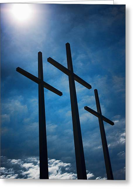 Usa Photographs Greeting Cards - The Trinity Greeting Card by Sherry Bowen
