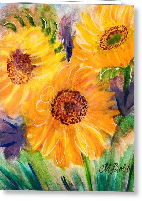 Just Because Greeting Cards - The Trio Greeting Card by Margaret Bobb