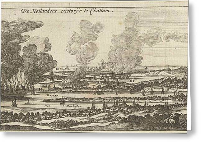 The Trip To Chatham, 1667, Anonymous, Romeyn De Hooghe Greeting Card by Anonymous And Romeyn De Hooghe