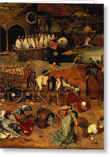 Horse And Cart Photographs Greeting Cards - The Triumph Of Death, C.1562 Panel Detail Of 457, Lower Left Hand Section, See Also 69068-71 Greeting Card by Pieter the Elder Bruegel