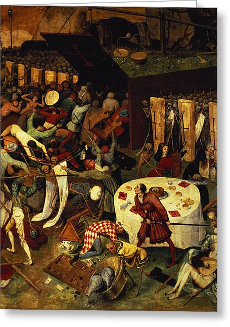 The Triumph Of Death, Detail Of The Lower Right Section, 1562  Greeting Card by Pieter the Elder Bruegel