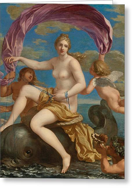 Galatea Greeting Cards - The Triumph of Galatea Greeting Card by Charles Alphonse du Fresnoy