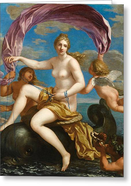 Galatea Greeting Cards - The Triumph of Galatea Greeting Card by Charles Alphonse Dufresnoy