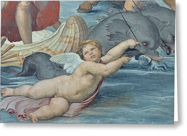 Galatea Greeting Cards - The Triumph of Galatea Greeting Card by Raphael
