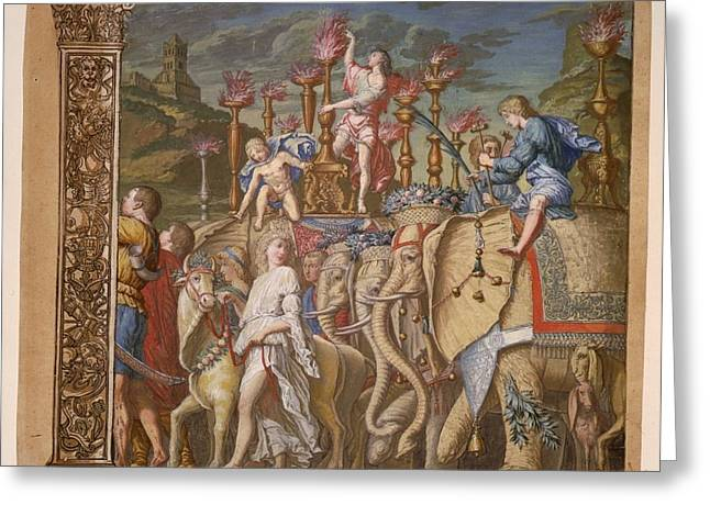 Summary Greeting Cards - The Triumph of Julius Caesar - Plate 5 - 1598 Greeting Card by Andreani and Andrea