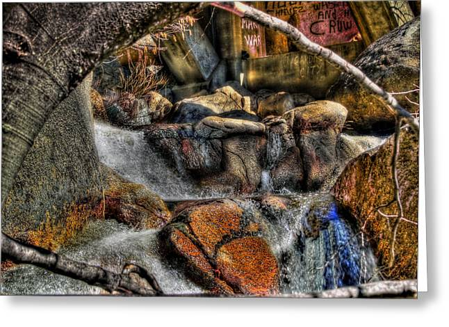 Yosemite Creek Greeting Cards - The Trolls Home Greeting Card by Bill Gallagher