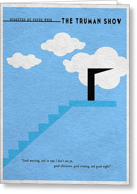 Old Door Mixed Media Greeting Cards - The Truman Show Greeting Card by Ayse Deniz
