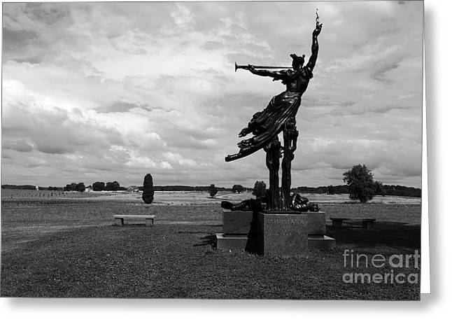 The Trumpet Sounds at Gettysburg Greeting Card by James Brunker