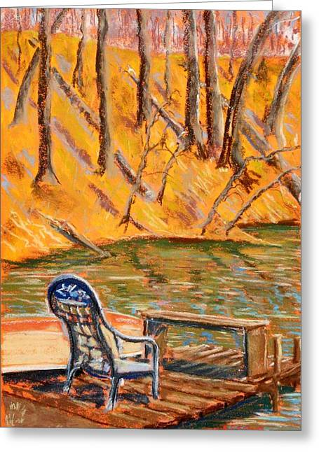 Canoe Pastels Greeting Cards - The Trysting Place Greeting Card by Tim  Swagerle