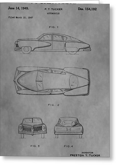 Mechanics Drawings Greeting Cards - The Tucker Sedan Greeting Card by Dan Sproul