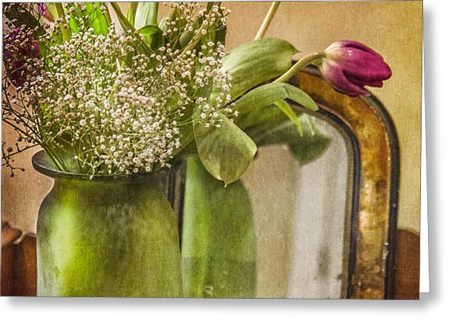 The Tulips Stand Arrayed - A Still Life Greeting Card by Terry Rowe
