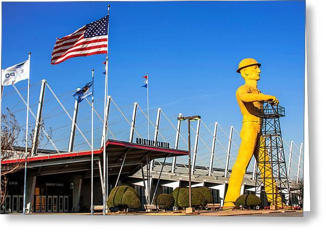 Tulsa Greeting Cards - The Tulsa Oklahoma Driller Greeting Card by Gregory Ballos