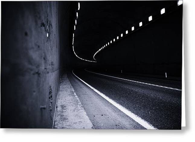 Tron Photographs Greeting Cards - The Tunnel Greeting Card by Alex Land