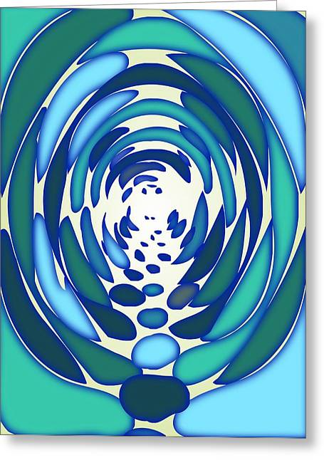 Hypnotic Abstract Greeting Cards - The Tunnel Greeting Card by Anastasiya Malakhova