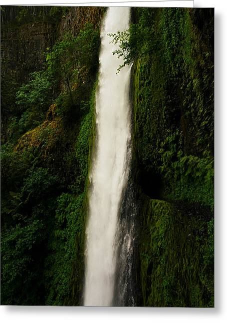 Falling Water Creek Greeting Cards - The Tunnel Behind Tunnels Falls Greeting Card by Jeff  Swan
