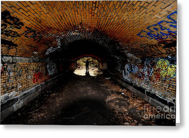 Light At The End Of The Tunnel Greeting Cards - The Tunnel Greeting Card by Paul Ward