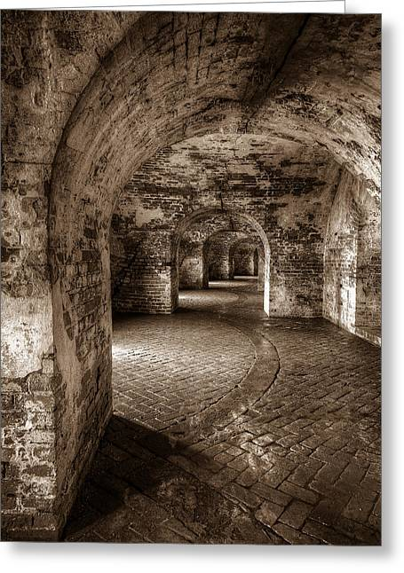 Slidell Greeting Cards - The Tunnels of Fort Pike Greeting Card by Tim Stanley