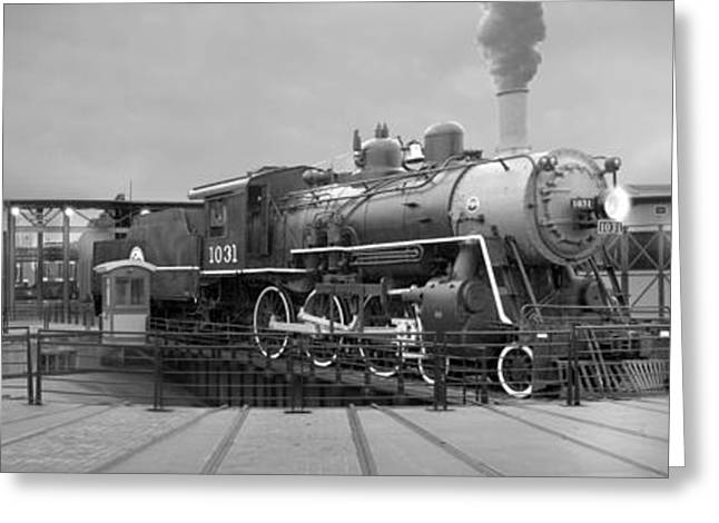 The Turntable And Roundhouse Greeting Card by Mike McGlothlen
