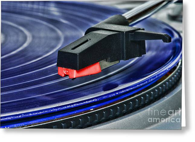 Disk Greeting Cards - The Turntable Greeting Card by Paul Ward