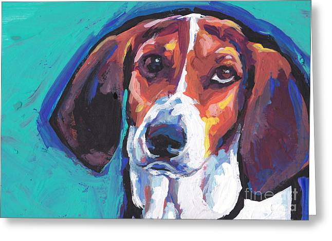 Dog Walker Greeting Cards - The TW Coonhound Greeting Card by Lea