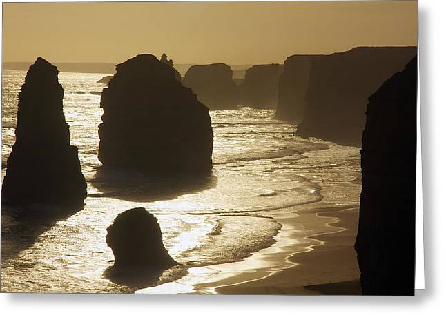 Amazing Sunset Greeting Cards - The Twelve Apostles #3 Greeting Card by Stuart Litoff