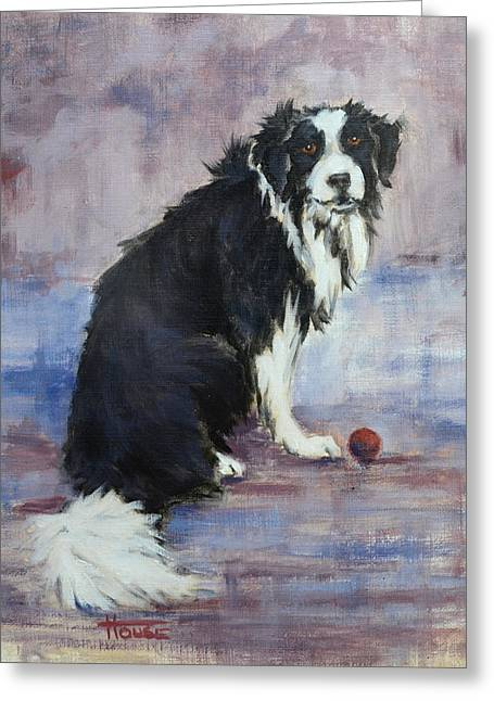Working Dog Greeting Cards - The Twilight Years Greeting Card by Cynthia House