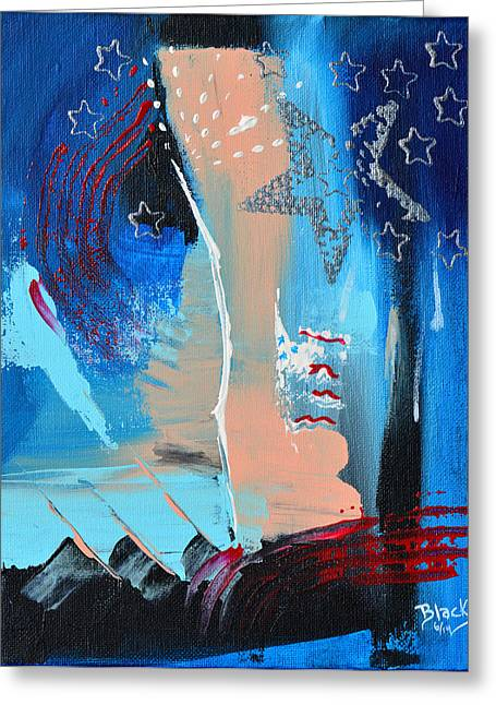 4th July Paintings Greeting Cards - The Twilights Last Gleaming Greeting Card by Donna Blackhall
