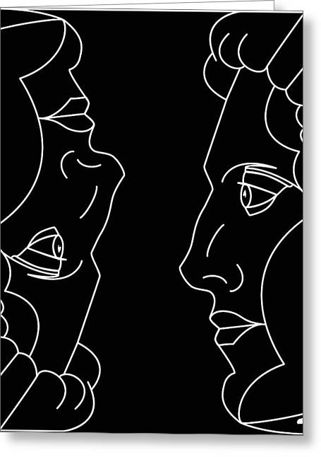 Beat It Digital Art Greeting Cards - The Twins Greeting Card by Charles Smith