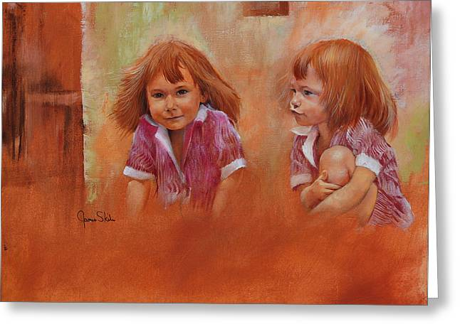 James Skiles Greeting Cards - The Twins Greeting Card by James Skiles