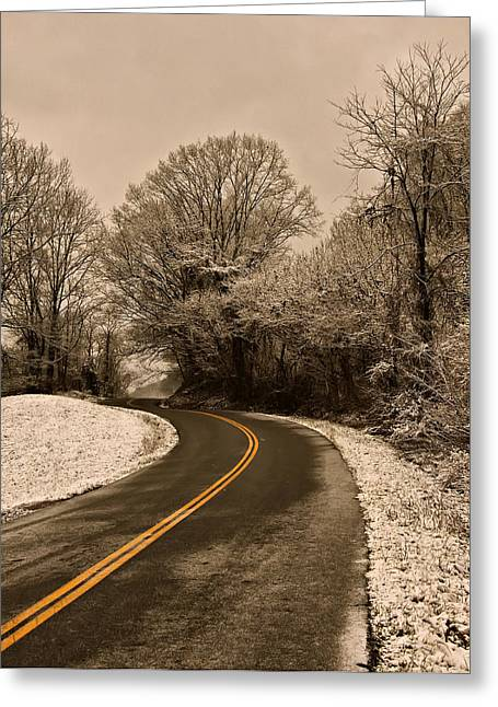 Winter Images Greeting Cards - The Twisted Road Greeting Card by Chris Flees