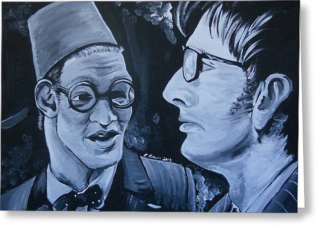 Eleventh Doctor Greeting Cards - The Two Doctors Greeting Card by Lisa Leeman