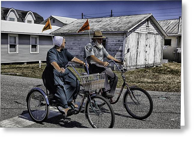 Amish Greeting Cards - The Two Of Us - Sarasota - Florida Greeting Card by Madeline Ellis