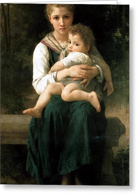 Williams Sisters Greeting Cards - The Two Sisters Greeting Card by William Bouguereau