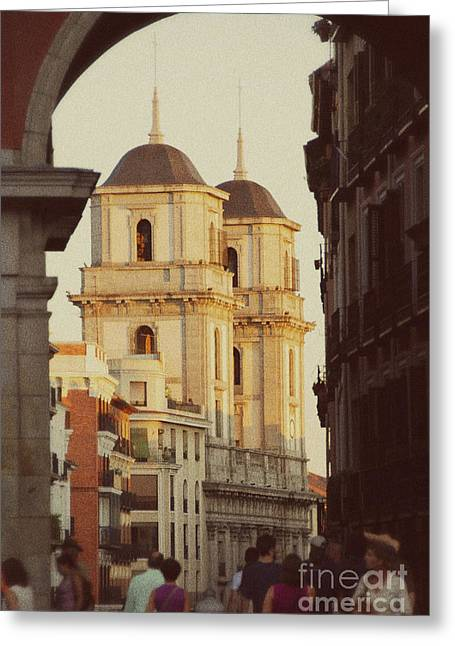 The Two Towers Of Catedral De San Isidro Greeting Card by Ivy Ho