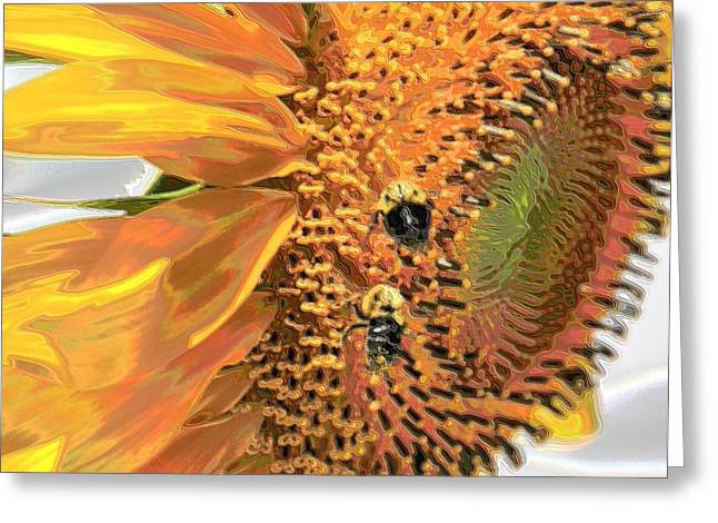 Stein Greeting Cards - The two visitors Greeting Card by Valerie Stein