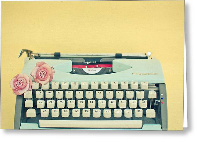 Bookish Greeting Cards - The Typewriter Greeting Card by Cassia Beck