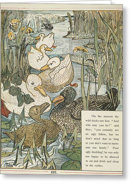 The Ugly Duckling Greeting Card by British Library