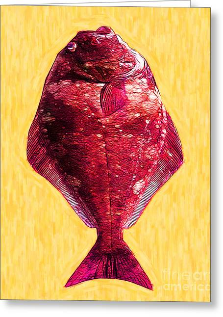 Flatfish Greeting Cards - The Ugly Fish 20130723mum38 Greeting Card by Wingsdomain Art and Photography