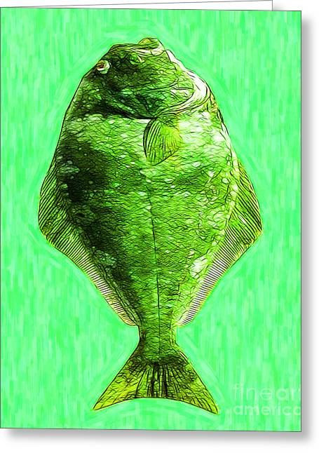 Flatfish Greeting Cards - The Ugly Fish 20130723mup68 Greeting Card by Wingsdomain Art and Photography