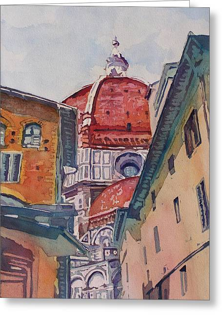 Domes Greeting Cards - The Ultimate Alley View Greeting Card by Jenny Armitage