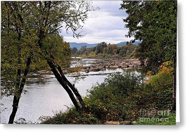The Umpqua River Greeting Card by   FLJohnson Photography