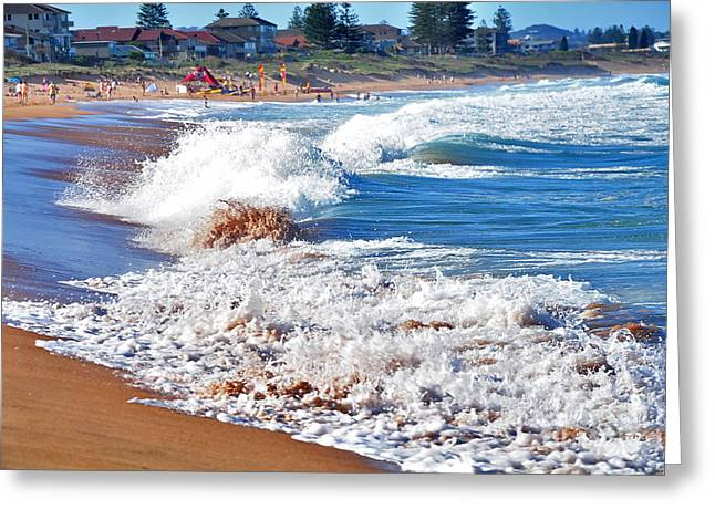 Breaking Surf Greeting Cards - The Undefined Beauty of Waves Greeting Card by Kaye Menner