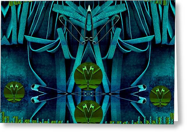 Heart Lake Greeting Cards - The under water temple Greeting Card by Pepita Selles