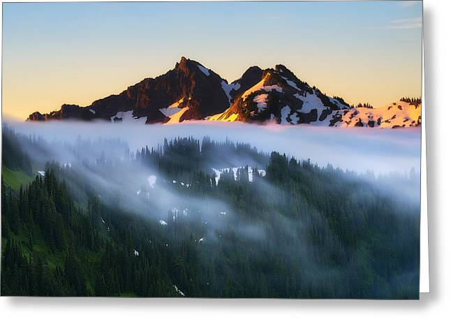 Mazama Greeting Cards - The Unicorn in Paradise Greeting Card by Ryan Manuel