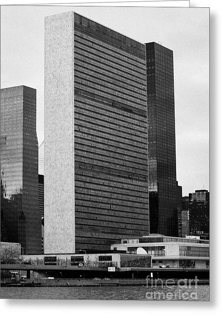 The United Nations Building Un New York Greeting Card by Joe Fox