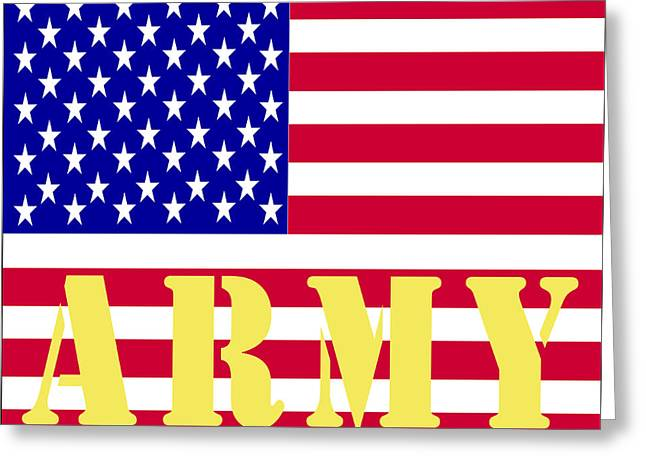 Armed Services Greeting Cards - The United States Army Greeting Card by Barbara Snyder