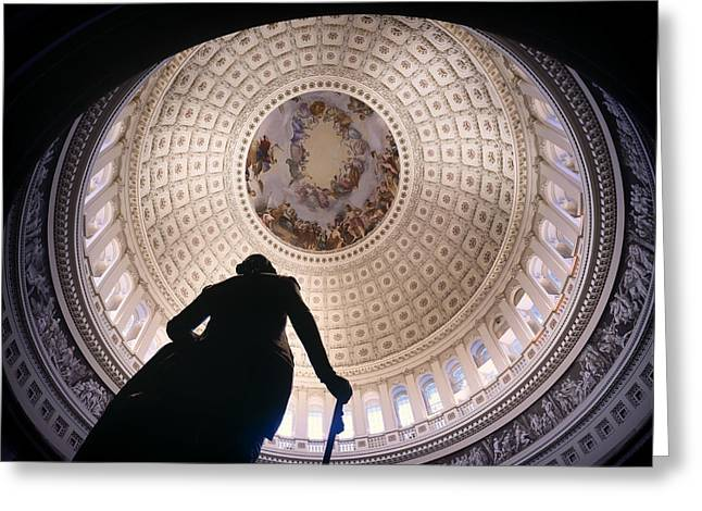 U.s. Capitol Dome Greeting Cards - The United States Capitol Dome Greeting Card by Mountain Dreams