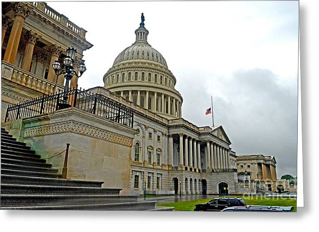 The United States Capitol Greeting Card by Jim Fitzpatrick
