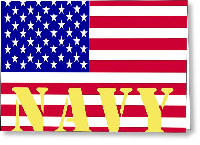 Armed Services Greeting Cards - The United States Navy Greeting Card by Barbara Snyder