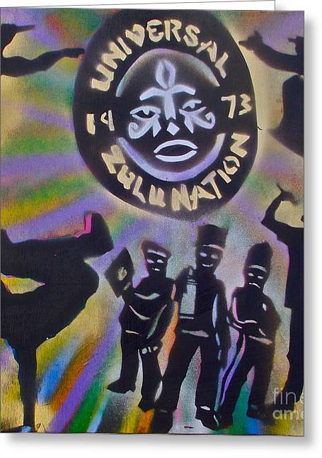 Free Speech Greeting Cards - The Universal Zulu Nation Greeting Card by Tony B Conscious
